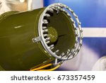 close up nozzle of mist fan for ... | Shutterstock . vector #673357459
