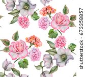 watercolor seamless pattern of... | Shutterstock . vector #673358857