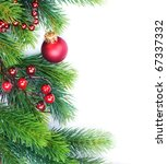 christmas tree border | Shutterstock . vector #67337332