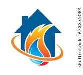 home restorations logo | Shutterstock .eps vector #673375084