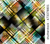 urban geometric seamless... | Shutterstock . vector #673378801