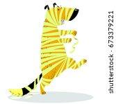 halloween dog character in... | Shutterstock .eps vector #673379221