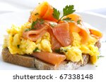 Scrambled Eggs With Smoked...