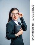 chinese business girl  | Shutterstock . vector #673385029