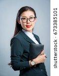 chinese business girl  | Shutterstock . vector #673385101