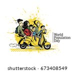 world population day  11 july ... | Shutterstock .eps vector #673408549