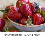 Fresh Organic Ripe Strawberrie...