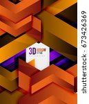 techno arrow background  vector ... | Shutterstock .eps vector #673426369
