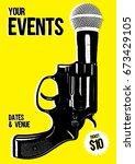 gig poster  show poster... | Shutterstock .eps vector #673429105