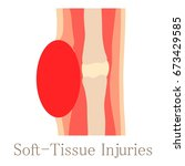soft tissue injury icon.... | Shutterstock .eps vector #673429585