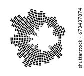 equalizer music sound wave... | Shutterstock .eps vector #673437874