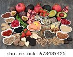 large aphrodisiac super food... | Shutterstock . vector #673439425