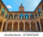 The Archiginnasio of Bologna exterior view