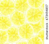 seamless pattern made of... | Shutterstock . vector #673454857