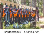 Climbing Equipment In Summer...