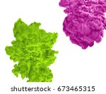 acrylic colors and ink in water.... | Shutterstock . vector #673465315