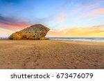 monsul beach  cabo de gata... | Shutterstock . vector #673476079