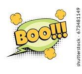 boo comic word. pop art retro... | Shutterstock .eps vector #673481149