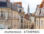 street view on the beautiful... | Shutterstock . vector #673489831