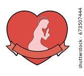 virgin mary cartoon | Shutterstock .eps vector #673507444
