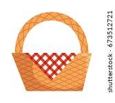 picnic basket empty | Shutterstock .eps vector #673512721
