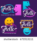 vector collection of smiling ... | Shutterstock .eps vector #673513111