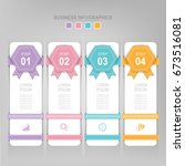 infographic template of four... | Shutterstock .eps vector #673516081