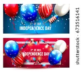 independence day headers or... | Shutterstock .eps vector #673516141