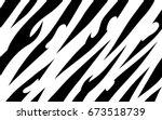 stripe animal jungle bengal... | Shutterstock .eps vector #673518739