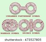 set of symbols of partnership.... | Shutterstock . vector #673527805