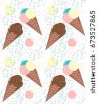 ice cream pattern | Shutterstock .eps vector #673527865