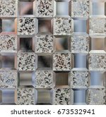 texture of a mirror glossy...   Shutterstock . vector #673532941