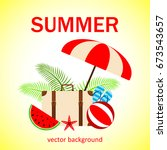 summer vector banner design... | Shutterstock .eps vector #673543657
