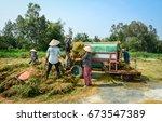 mekong delta  vietnam   mar 23  ... | Shutterstock . vector #673547389