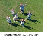 family and summer holidays... | Shutterstock . vector #673549684
