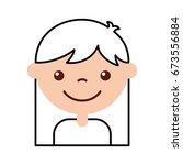 cute girl character icon | Shutterstock .eps vector #673556884