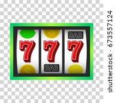 slot machine  icon. vector...   Shutterstock .eps vector #673557124