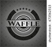 waffle retro style black emblem | Shutterstock .eps vector #673562515