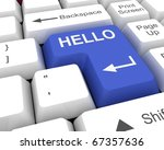hello key | Shutterstock . vector #67357636
