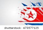 north korea background vector...   Shutterstock .eps vector #673577125