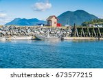 tofino on the west coast of...   Shutterstock . vector #673577215