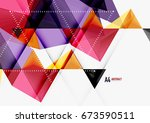triangular low poly a4 size... | Shutterstock . vector #673590511