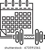 calendar of training outline... | Shutterstock .eps vector #673591561