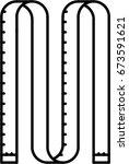 measuring tape outline icon | Shutterstock .eps vector #673591621