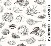 Seamless Pattern With Seashells....
