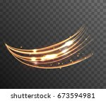 vector shine transparent light... | Shutterstock .eps vector #673594981