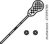 lacrosse outline icon  | Shutterstock .eps vector #673595785