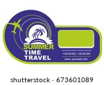 summer travel and tourism... | Shutterstock .eps vector #673601089