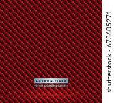 seamless red carbon fiber...   Shutterstock .eps vector #673605271