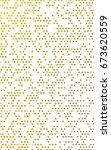 dark yellow banner with circles ... | Shutterstock . vector #673620559